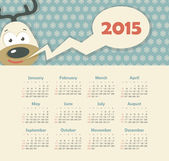Calendar 2015 year with deer — Stock Vector