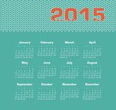 Calendar 2015 year — Stock Vector