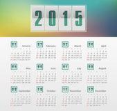 Calendar 2015 year with gradient — Stock Vector