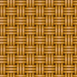 Seamless woven wicker rail fence background — Stock Vector