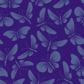 Night moth butterflies seamless background — Cтоковый вектор