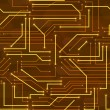 Seamless high tech background with circuit board — Vettoriali Stock