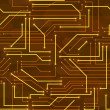 Seamless high tech background with circuit board — Imagen vectorial