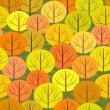 Abstract autumn forest seamless background — Stock Vector