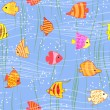 Royalty-Free Stock Vector Image: Seamless multicolored tropical fish background