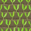 Royalty-Free Stock Imagen vectorial: Sprout, shoot vegetable patches in row seamless