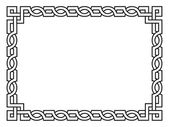 Roman style black ornamental decorative frame — Stock Vector