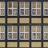 Seamless fachwerk wall with windows texture — Stock Photo