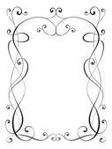 Calligraphy ornamental decorative frame — Stock Vector