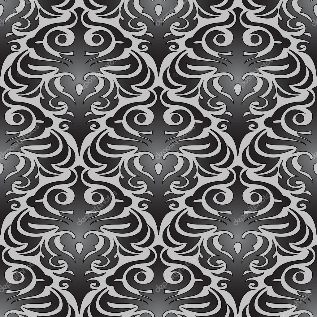 nahtlose schwarze tapete muster stockvektor 30765973. Black Bedroom Furniture Sets. Home Design Ideas