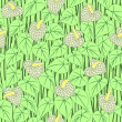 Seamless anturium flower pattern background — Stok Vektör