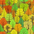 Stock Vector: Abstract autumn forest seamless background