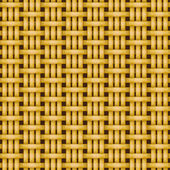 Wicker basket weaving pattern seamless texture — Stock Vector