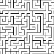 Seamless abstract complex maze, labyrinth — Stock Vector