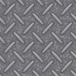 Seamless steel diamond plate grunge texture — Stock Vector