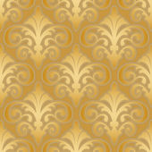 Seamless gold silk wallpaper pattern — Stock Vector
