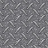 Seamless steel diamond plate grunge texture — Stock Vector