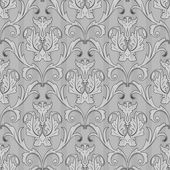Seamless black white wallpaper pattern — Stock Vector