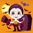 Little Count Dracula — Stock Vector