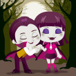 Vampire Couple — Stock Vector
