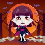 donna vampiro — Vettoriale Stock