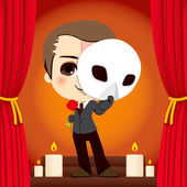 Phantom of the Opera — Stock Vector