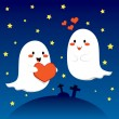 Lovely Ghosts — Stock Vector