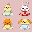 Royalty-Free Stock Vector Image: Teacup Animals