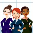 Confident Business Women — Stock Vector