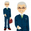 Senior Salesman — Stock Vector