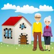 Royalty-Free Stock Vector Image: Sweet Retirement House