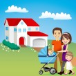 Beautiful Family House — Stock Vector #12640461