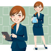 Brunette Business Woman — Stock Vector