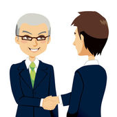 Salesman Handshake — Stock Vector