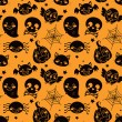motif Halloween orange — Vecteur