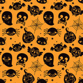 Halloween Orange Pattern — Stock Vector