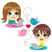 любовь сладкого детства — Cтоковый вектор