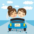 Just Married Trip — Stock Vector