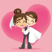 Huwelijksreis liefde — Stockvector
