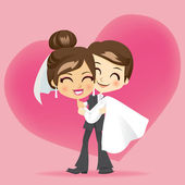 Honeymoon Love — Stock Vector