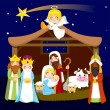 Christmas Nativity Scene — Stock Vector #13472310