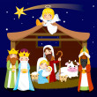 Christmas Nativity Scene - Stock Vector