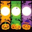 Halloween Pumpkin Banners — Stock Vector