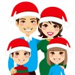 Santa Family Portrait — Stock Vector