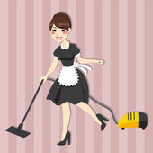 Lovely Housewife Maid — Stock Vector