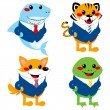 Royalty-Free Stock Vector Image: Cute Animal Business