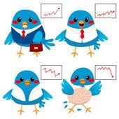 Bird Business Concept — Stock Vector
