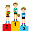 Sport Podium Winners — Stock Vector