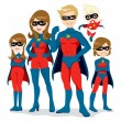 Superhero Family Costume - 图库矢量图片