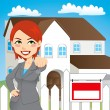 Vector de stock : Real Estate Woman